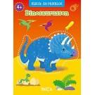 Kleur- en prikblok- dinosaurussen