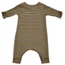Okergeel Gestreept kruippakje stripe ocra grey - maat 3 maand (Geboortelijst Lonne V.)