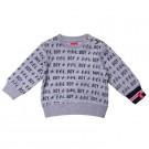 Grijze jongenssweater boy - maat 62 (Geboortelijst Joa v.G.)