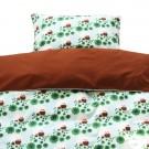 Dekbedovertrek + sloop éénpersoonsbed : uiltjes