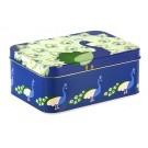 Opbergdoosje (lunchbox) met een prachtige pauw