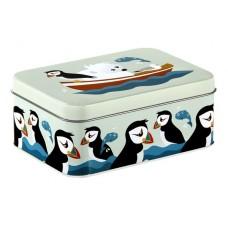 Opbergdoosje (lunchbox) met pinguïn en zijn vriendjes