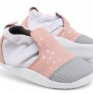 Oud roze schoentjes met zilveren stipjes- Xplorer pink silver dots city