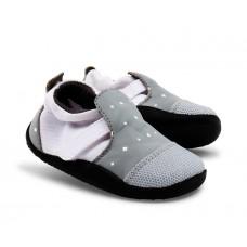 Grijze schoentjes met witte kruisjes - Xplorer grey white plus symbols city
