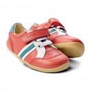 Rode sportieve leren kinderschoentjes - pompei trackside sports - Step Up Bobux : maat 18 (Geboortelijst Mathis H.)