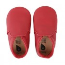 Rode leren kindersloefjes - bobux red loafer