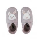 Leren kindersloefjes met konijntje- lilac rabbit- bobux - maat Small ( 3-9 maand) (Geboortelijst Lea F.)