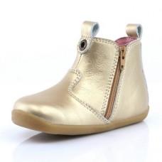 Goudkleurige lederen laarsjes - step up bobux- true gold jodphur boot