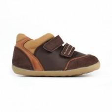 Bruine spotieve schoentjes - step up bobux- espresso tumble boot