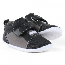 Zwart sportief schoentje met grijs- smoke nano casual