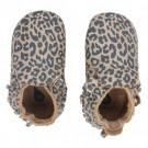 Goudbruine leren kindersloefjes met luipaardprint - Gold leopard print