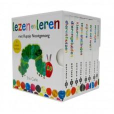 Box met 8 boekjes: Lezen en leren met rupsje Nooitgenoeg