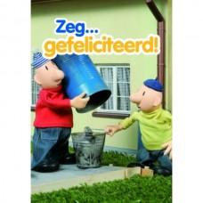 Wenskaart buurman en buurman - Zeg ...gefeliciteerd