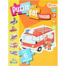 Puzzelset rescue- 6 stuks