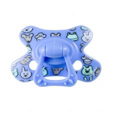Fopspeen - combi speen blauw met diertjes- Zippy - 12m+