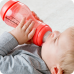 Koraalkleurige S-fles met brede hals- 310ml