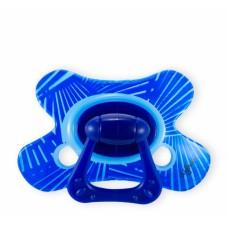 Fopspeen- combi speen met blauwe stralen- 12m+