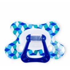 Fopspeen - dental speen blauwe blokken - 6m+