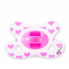 Fopspeen - combi speen roze hartjes - newborn - 2 / + 2 m