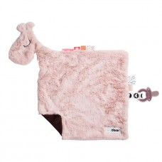 Superzachte oud roze knuffeldoek giraf- raffi powder