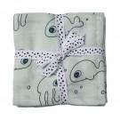 Blauwe XL tetradoek met zeediertjes - Sea friends blue 2 pack