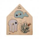 Insteekpuzzel sea friends
