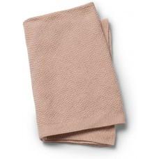 Oudroze gebreid deken - moss knitted blanket faded rose