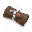 Chocoladebruin wiegdeken - Chocolate cellular blanket