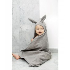 Badcape met oortjes - marble grey