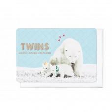 Wenskaart mama ijsbeer met haar tweeling - Twins