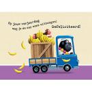 Wenskaart - Op jouw verjaardag mag je de aap eens uithangen! Gelukkige verjaardag