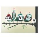 Wenskaart vogels - happy birdei
