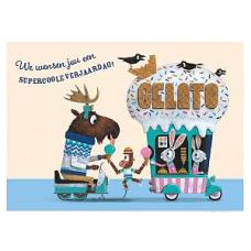 Wenskaart ijsjeskar- we wensen jou een supercoole verjaardag