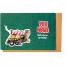 Kampkaart met schildpad : yeehaa veel plezier op kamp!