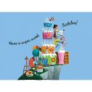 Wenskaart met taartjes - have a sweet birthday!
