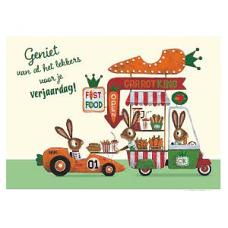 Wenskaart wortelwinkel - geniet van al het lekkers voor je verjaardag!