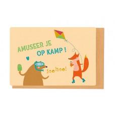 Wenskaart - Amuseer je op kamp! (2295)