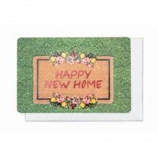 Wenskaart met deurmat - happy new home