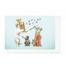 Wenskaart dierenorkest