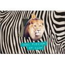 Kampkaart leeuw - veel plezier op kamp!