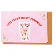 Kampkaart varken - dikke kussen van het thuisfront