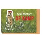 Kampkaart  luipaard- veel plezier op kamp