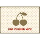 Wenskaart kriekjes - I like you cherry much