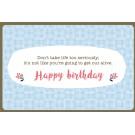 Wenskaart - Happy birthday