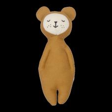 Mosterdgeel knuffelrammelaartje - soft rattle brar