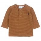 Bruin gestreepte shirt - camel