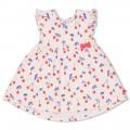 Lichtroos kleedje met kriekjes - Pink