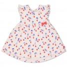 Lichtroos kleedje met kriekjes - Pink (stapelkorting)