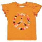 Mosterdgele t-shirt met bloemetjes - Yellow ochre (stapelkorting)