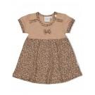 Zandkleurig kleedje met panterprint - Sand